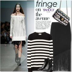How To Wear Timo Weiland Fringed Skirt Outfit Idea 2017 - Fashion Trends Ready To Wear For Plus Size, Curvy Women Over 20, 30, 40, 50