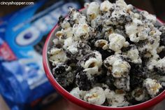 The kiddos were off from school today so we decided to make Oreo Popcorn. Yes, it sounds a bit odd but this stuff is so darn good! It's not like the kids ne