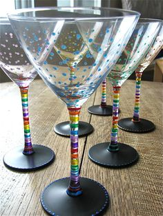 Wine glasses on pinterest wine glass painted wine for Paint you can use on glass