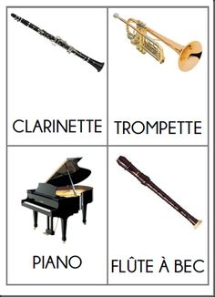 Imagier des instruments de musique - 123 dans ma classe