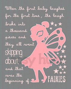 Peter Pan quote PINK and GRAY Kids art Kids wall by RosyHuesArt, $14.00