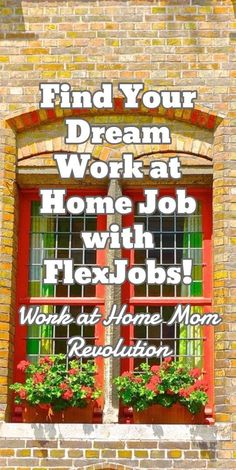 Find Your Dream  Work at Home Job with FlexJobs! / Work at Home Mom Revolution