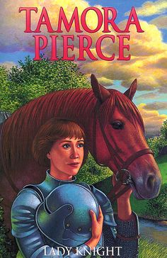 """""""Lady Knight"""" Book Four of the """"Protector of the Small"""" tetralogy. By Tamora Pierce. 2002 Scholastic cover."""