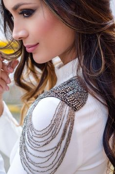 Sparkle Innocence Cloth Fashion Blouse Style Blusa Charretera