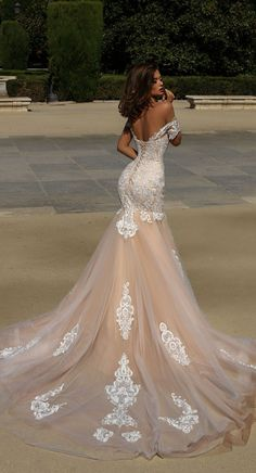 Victoria Soprano 2018 Wedding Dresses short sleeves full embellishment mermaid wedding gown chapel train #wedding #weddingdress #weddinggown #bridedress