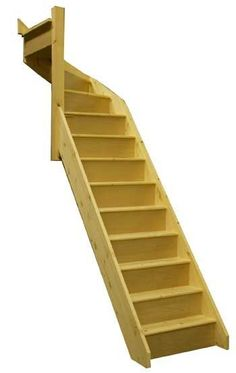 Space saving stairs -perfect go up into loft conversion without losing too much space from the main floor!