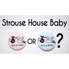 Find out tomorrow what #StrouseHouseBaby will be...he or she?