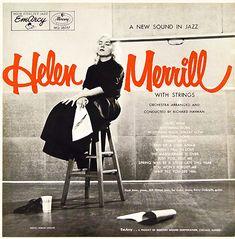 "Helen Merrill with Strings Label: EmArcy 36057 12"" LP 1955 Photo: Herman Leonard"