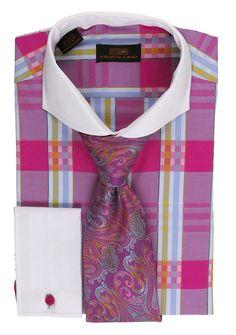 Steven Land Dress Shirt DS1568 | Magenta $69 #StevenLand #SpringCollection