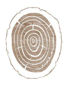 Faux Bois Print - Knock on Wood  - Brown and White Woodgrain Wood Slice Art Print  - 8 x 10 WoodlandWall Art