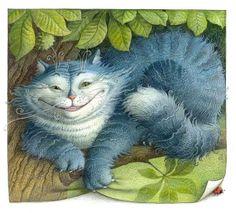 Русский художник-иллюстратор Елена Базанова - Алиса
