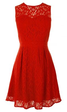 Oasis Red Lace Dress, £55