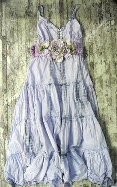 Gypsy cowgirl Slip Dress romantic boho Farm by TrueRebelClothing Lavender dress Boho Gypsy, Gypsy Cowgirl, Bohemian Mode, Hippie Boho, Bohemian Style, Boho Chic, Hippie Style, Mode Hippie, Gypsy Style