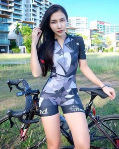 Curves and Lines: Women and Bikes Cycling Wear, Cycling Girls, Bicycle Women, Bicycle Girl, Sexy Asian Girls, Beautiful Asian Girls, Bike Suit, Female Cyclist, Cycle Chic