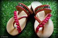 Greek leather Sandals bride sandals leather by ZoozooCrochet Boho Sandals, Greek Sandals, Palm Beach Sandals, Leather Sandals, Pom Pom Sandals, Crochet Sandals, Boho Fashion, Just For You, Etsy