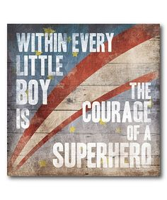 Decorate your space with this eye-catching canvas featuring an inspirational message to recognize how super your little guy is.Shipping note: This item is made to order. Allow extra time for your special find to ship.