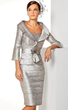 photo of ladies formal daywear design by Sonia Pena. This would be a lovely mother of the bride dress