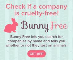 Bunny Free app and website to do cruelty checks