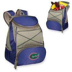 Picnic Time  Florida Gators Ptx Backpack Cooler (54 CAD) ❤ liked on Polyvore featuring home, kitchen & dining, food storage containers, navy, picnic time cooler backpack, picnic backpack cooler and picnic time backpack cooler