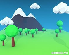 Low Poly Mountain by gianmulya