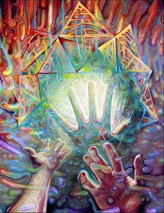 Hand and Mind by Adam Scott Miller  #psychedelicmindscom psy-minds.com