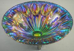 1980s Iridescence iridescent - LGW Carnival Glass Peacock Bowl Iridescent Bavaria Leinauer Glaswaren from http://www.ebay.com/itm/LGW-Carnival-Glass-Peacock-Bowl-Iridescent-Bavaria-Leinauer-Glaswaren-/330702811637?pt=LH_DefaultDomain_0=item4cff6c71f5#ht_3604wt_754