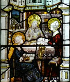 Jesus with Martha and Mary: Gloucester Cathedral