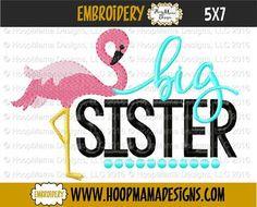 Big Sister Flamingo 4x4 5x7 6x10