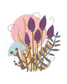 Botanical illustration by Birdsong. Botanical Drawings, Botanical Illustration, Botanical Prints, Floral Prints, Nursery Art, Girl Nursery, Nursery Decor, Modern Art Prints, Fine Art Prints