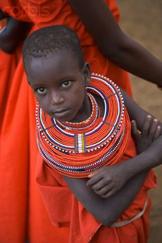 Africa | Masai Boy With Beaded Collar