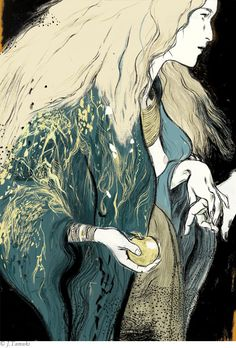 Irish Myths and Legends  Client: The Folio Society  Jillian Tamaki  A series of images to accompany Lady Gregory's Irish Myths and Legends compendium.