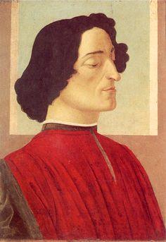 Портрет Джулиано Медичи (ок.1475) (54 х 36) (Бергамо, академия Каррара). Sandro Botticelli (1445-1510)