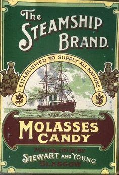 The Steamship Brand tin box label