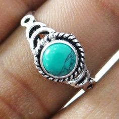 This is beautiful Silver Plating done on Solid Copper metal stone size ring. It is high quality fashion ring.this is img Fashion Rings, Fashion Jewelry, Copper Metal, Turquoise Stone, Stone Rings, Indian Fashion, 925 Silver, Silver Plate, Plating