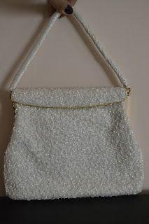 Handmade, Vintage - Pixalia - haine si accesorii faine: Poseta bijuterie din margele de sticla