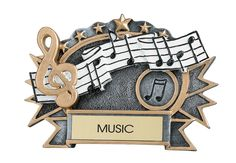 """SCULPTURED STAFF PLAQUE - Ready to hang or to use with easel back stand. 6"""" x 4.25"""""""