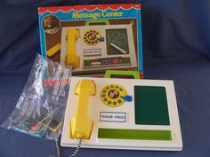Fisher Price Message Center with Box - Sealed Accessories Found on Ruby Lane Fisher Price Toys, Vintage Fisher Price, Childhood Days, I Remember When, Good Ole, Old Toys, Toy Boxes, School Fun, Vintage Toys