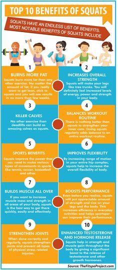 Top 10 Benefits of Squats