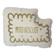 Annabel Kern Biscuit Glitter Gold Cushion `One size Details : Cotton twill, 100% hypoallergenic polyester wadding padding * Color : Gold, White * Length : 30 cm, Width : 20 cm. * Machine washable, 30°C max * Made in : France http://www.MightGet.com/january-2017-13/annabel-kern-biscuit-glitter-gold-cushion-one-size.asp