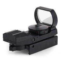 1 x 22 x 33 Hunting Holographic Reflex Red Green Dot Sight Scope 20mm Shockproof RifleScope for Sniper Rifle Shotgun