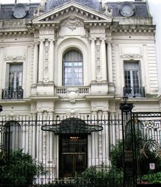 Buenos Aires, Argentina ~ home of Luis Francisco Leloir, Argentine doctor and biochemist who received the 1970 Nobel Prize in Chemistry ~ Spanish-speaking scientist to ever receive a Nobel Prize Neoclassical Architecture, Classic Architecture, Beautiful Architecture, Architecture Details, Art Nouveau Arquitectura, Scenic Photography, Landscape Photography, Second Empire, Most Beautiful Cities