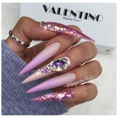 ✨✨ long stiletto nails color ombré glitter nail art design Swarovski crystals nail fashion spring nail ideas    #stilettonails #glitter #ombrenails #nailart #MargaritasNailz #nailfashion #glitternails #naildesign #nailswag #hairandnailfashion #nailedit #teamvalentino #nailprodigy #nailpromagazine #valentinobeautypure #nailaddict #nailstagram #nailtech #nailporn #nailsoftheday #nailedit #nailsmagazine #nailpro #nails2inspire