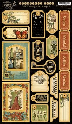 Graphic 45 Olde-Curiosity-Shoppe-Chipboard-Tags-2