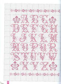 x stitch alphabet Cross Stitch Letters, Cross Stitch Love, Beaded Cross Stitch, Cross Stitch Charts, Cross Stitch Designs, Cross Stitch Embroidery, Stitch Patterns, Abc Letra, Diy Broderie
