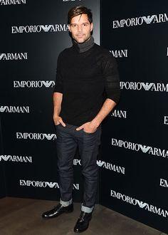 Ricky Martin at Emporio Armani New York Flagship Opening