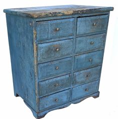 Chalk Painting, Primitive Antiques, Small Drawers, American Country, Cupboards, Dressers, Primitives, Apothecary, Antique Furniture