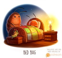 Daily+Paint+1512.+Bed+Bug+by+Cryptid-Creations.deviantart.com+on+@DeviantArt