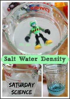 Simple Salt Water Density Science Experiment {Saturday Science}