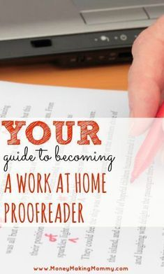 Expert guide to becoming a proofreader and finding work at home proofreading jobs! A career in proofreading can be flexible and lucrative. Learn how this is traveling the world AND making a full time income doing proofreading (and from her iPad Work From Home Moms, Make Money From Home, Way To Make Money, Money Fast, Home Based Business, Business Tips, Online Business, Business Software, Work From Home Opportunities