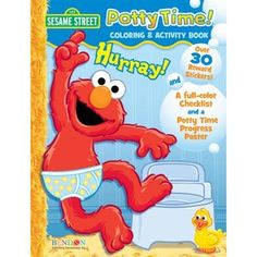 Bendon Publishing Intl 07210 Elmo Potty Training Activity Book With Stickers, Po